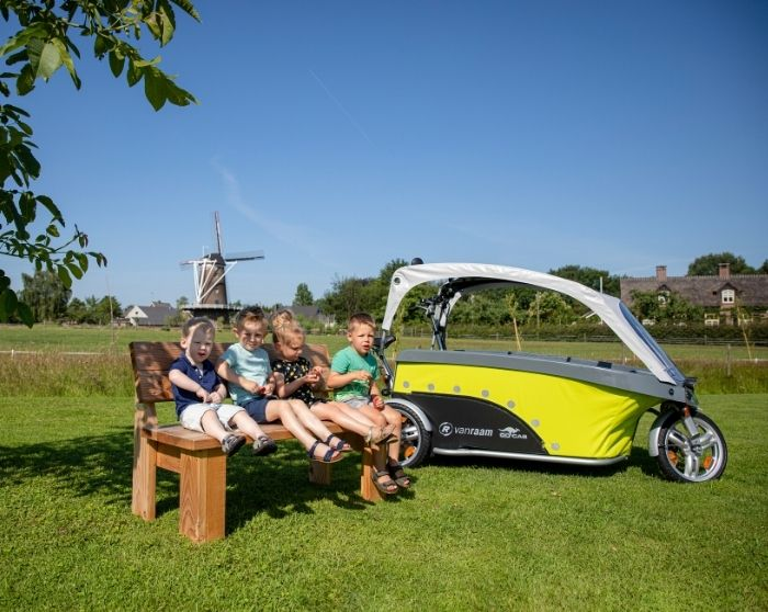 GoCab school bus bicycle kids Netherlands Van Raam