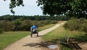 Easy Sport tricycle recumbent in nature Cindy van Bemmelen