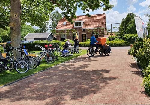 Rental of Van Raam adapted bicycles at De Bever Rickshaw bike Chat