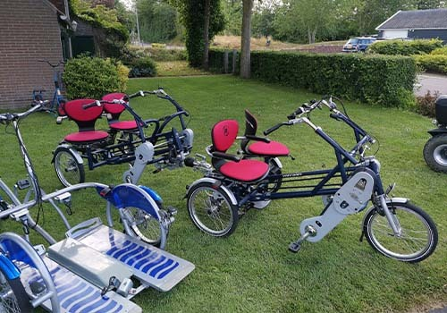 Rental of Van Raam adapted bicycles at De Bever VeloPlus and FunTrain