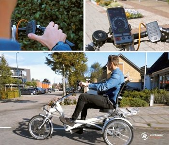 Video on adult tricycle Easy Rider with E-Bike App