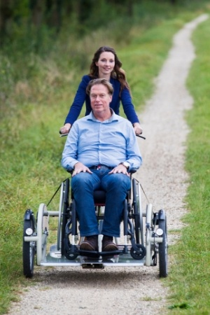Wheelchair-bike-for-transporting-own-wheelchair-Van-Raam