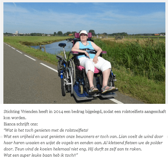 cycling with a wheelchair user