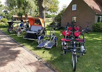 Rental of Van Raam adapted bicycles at De Bever