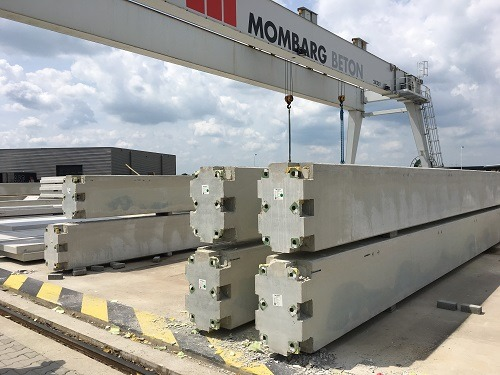 Concrete piles mady by Mombard for Van Raam