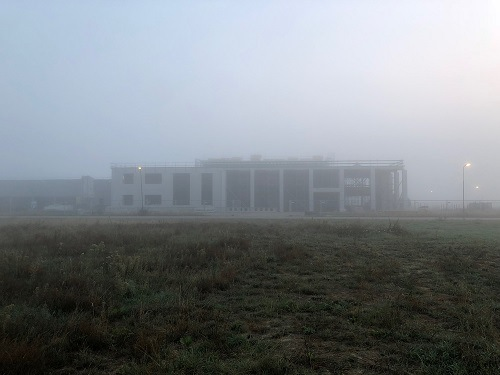 week 34-New building Van Raam in the mist