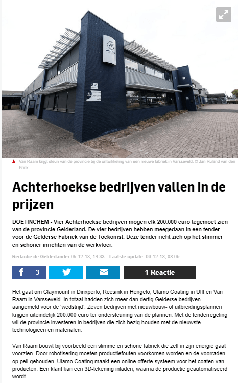 Companies from the Achterhoek win prices