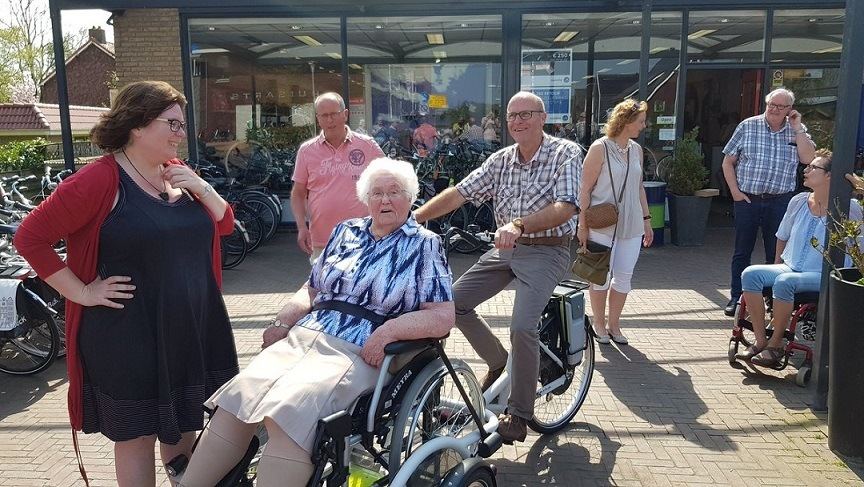 Residential care homes receive a sponsored wheelchair bike