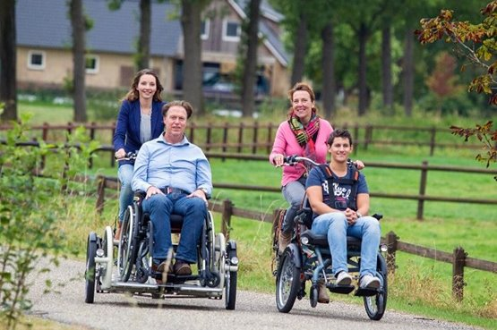A Van Raam wheelchair bike in your daily life