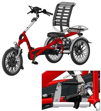 Special Easy Rider tricycle with panic brake