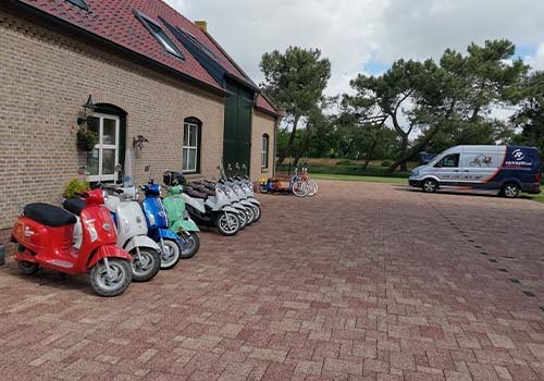 Rental of Van Raam adapted bicycles at De Bever Van Raam van