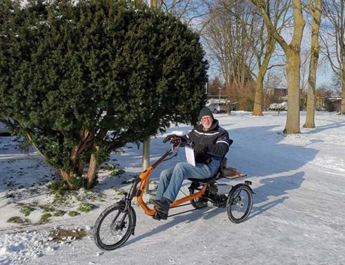 Tips for cycling in cold weather and snow Van Raam