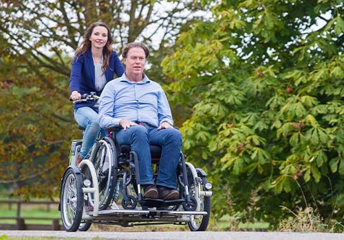 Van Raam VeloPlus wheelchair bike rental at De Bever