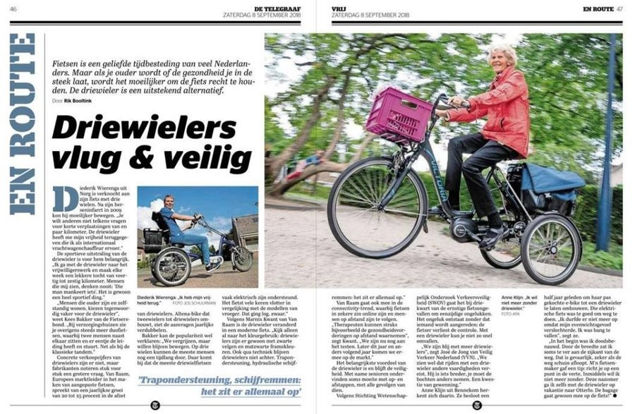 Article about tricycles in newspaper