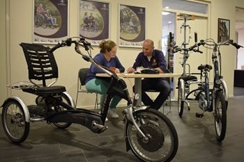 Appointment in Van Raam showroom with technical advisers