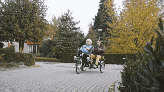 User experience Van Raam side-by-side tandem Fun2Go - Healthcare organisation Estinea