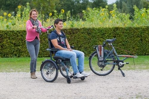 Divided Van Raam wheelchair bike OPair