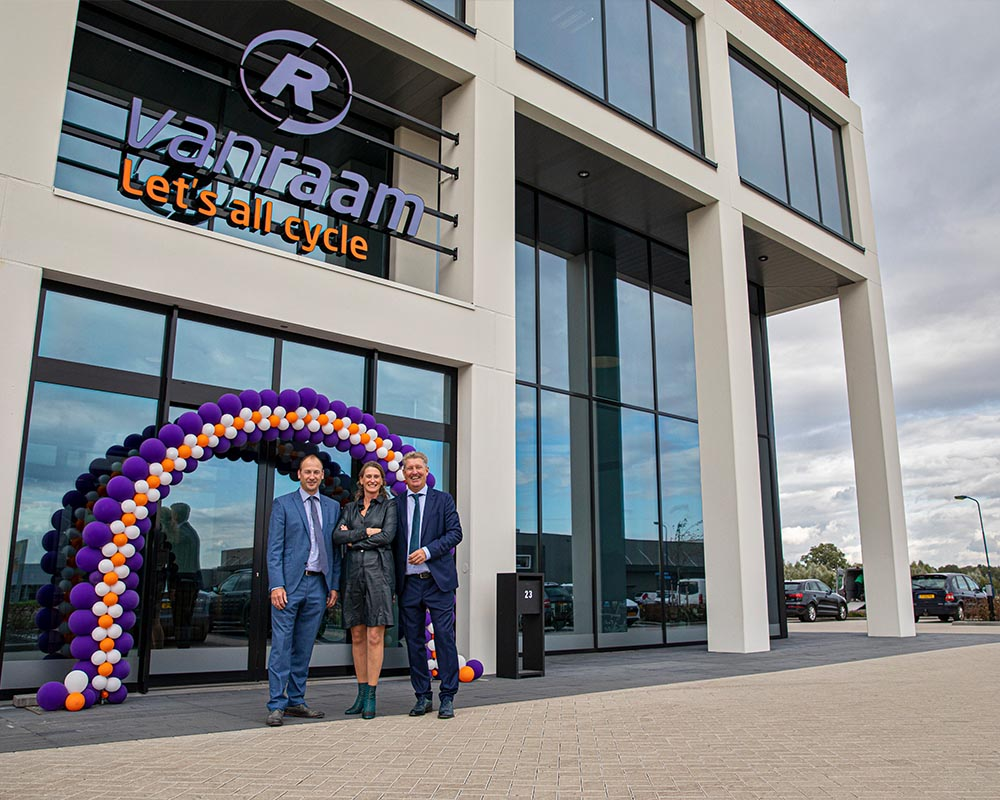 Directors during festive opening Van Raam new Bicycle factory