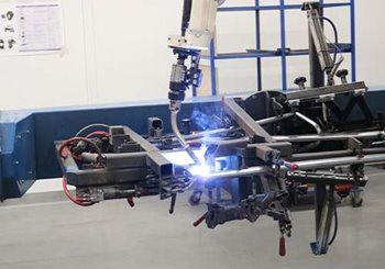 Production special needs bike welding robot Van Raam