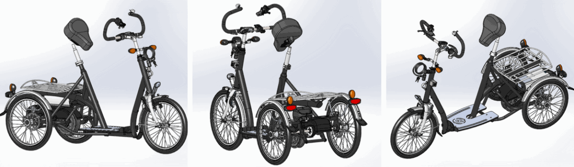Design special stand up tricycle
