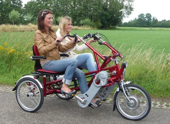Companion cycle, side by side tandem