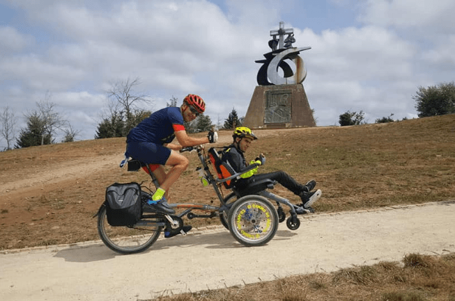 Cycling-together-with-a-Van-Raam-wheelchair-bike-OPair