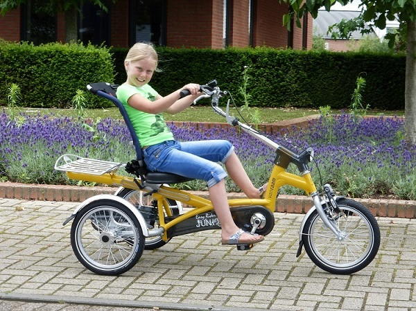 Gele driewielfiets Easy Rider Junior