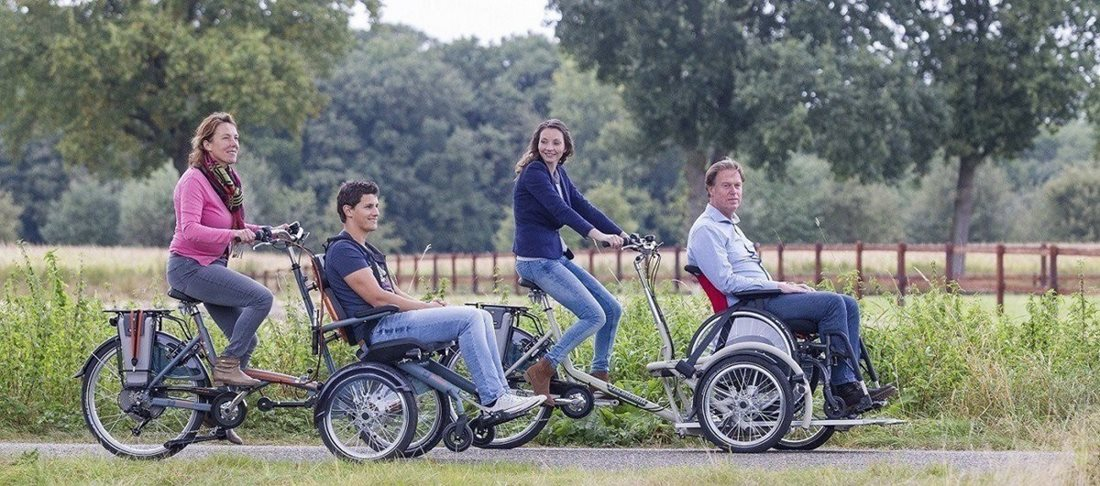 Ride on a wheelchair bike