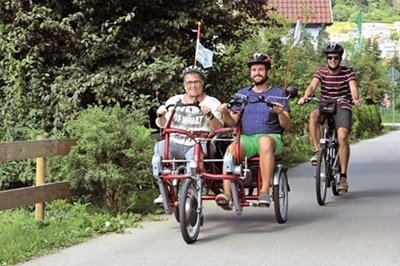 Adapted Van Raam bikes to rent in a german municipality