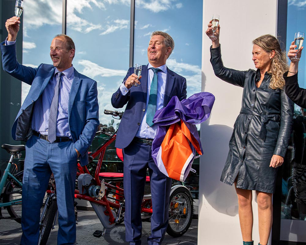 Festive opening new bicycle factory Van Raam