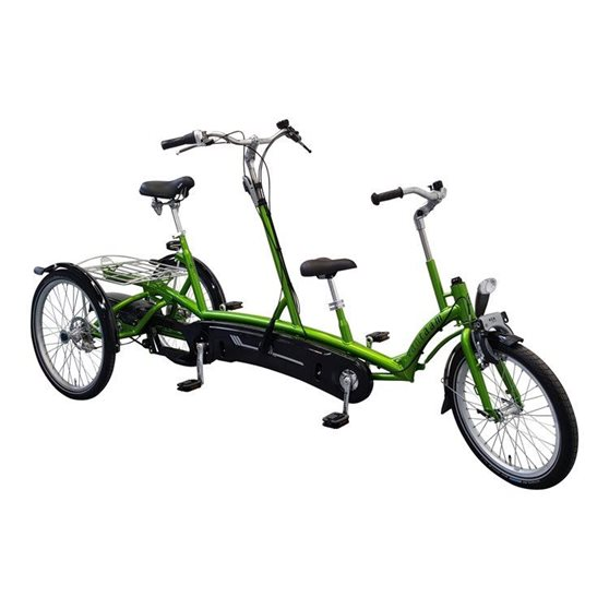 Tricycle tandem adult and child