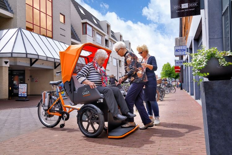 Chat Rickshaw Transport Bike Van Raam shopping