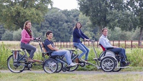 wheelchair bikes made by manufacturer of special needs bikes Van Raam