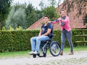 Unique riding characteristics of the OPair wheelchair bicycle as a wheelchair