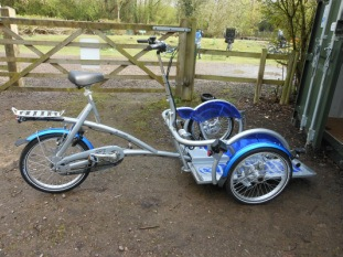 Experience wheelchair transport bike Velo Plus