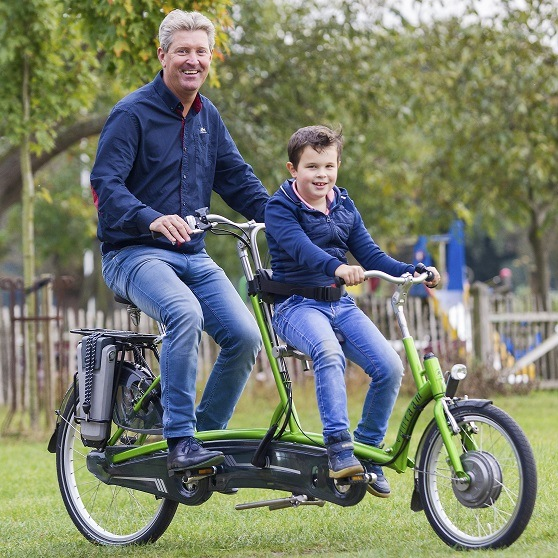 Electric tandem child parent