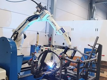 Van Raam bike factory robot welding with welding arm