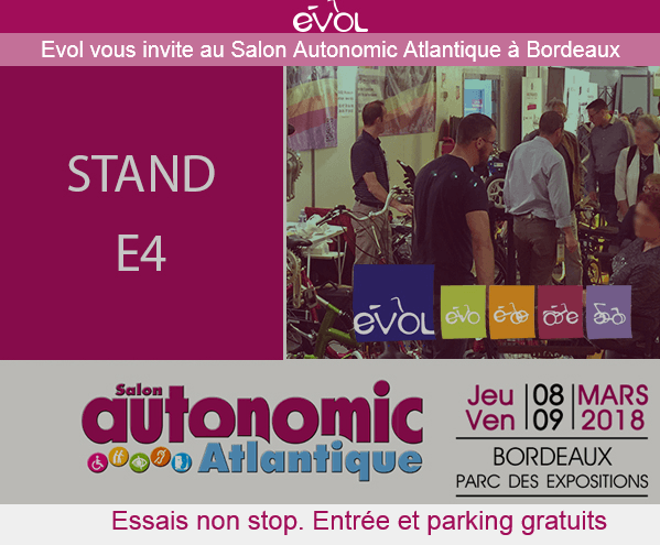 Vélos adaptés de Van Raam au salon Autonomic Atlantique Bordeaux