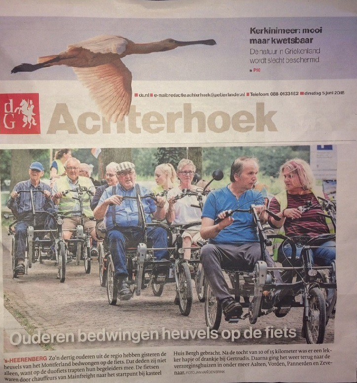 Newspaper article side-by-side-tandem Montferland