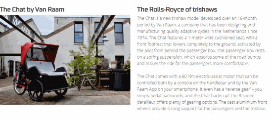 Das Chat is Rolls-Royce of rickshaw bikes at CWA