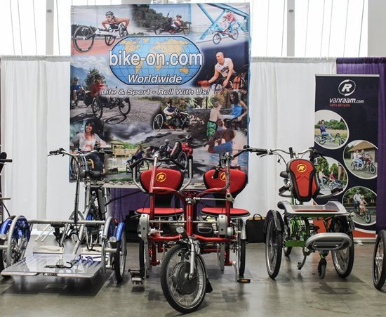 Van Raam bicycles on trade fair