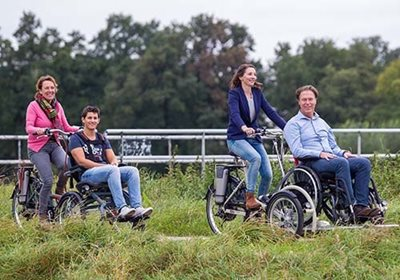 Tips for cycling with a wheelchair bike Opair and VeloPlus