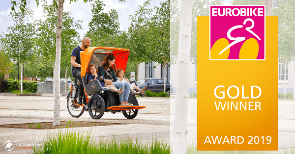 Chat rickshaw bike Van Raam wins Eurobike Gold Award 2019