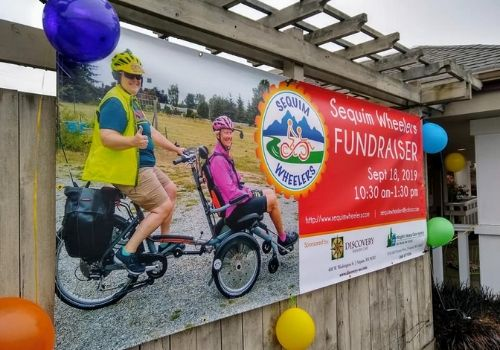 Sequim Wheelers cycle with OPair wheelchair bike
