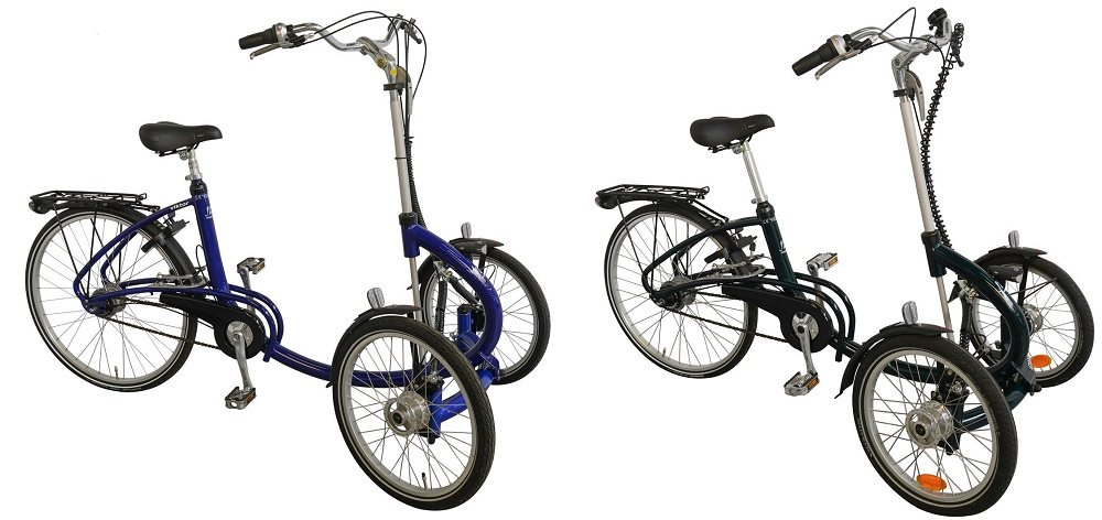 Tricycles with two front wheels