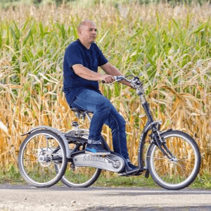 How to ride on a trike bike low step through bike Maxi Comfort