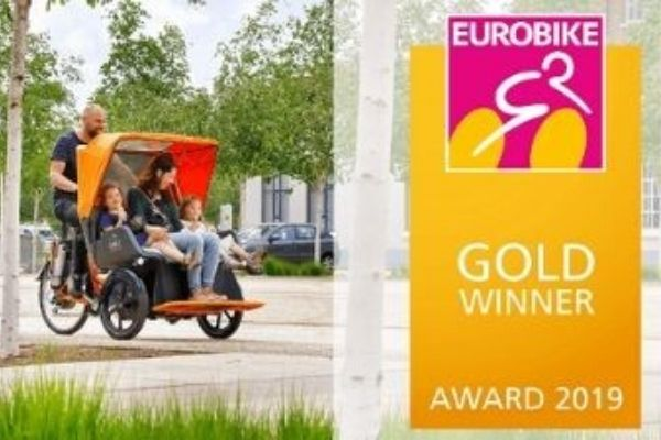 Chat rickshaw bike from Van Raam wins Eurobike Gold Award 2019