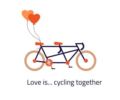 Love is... cycling together on a special needs bike by Van Raam