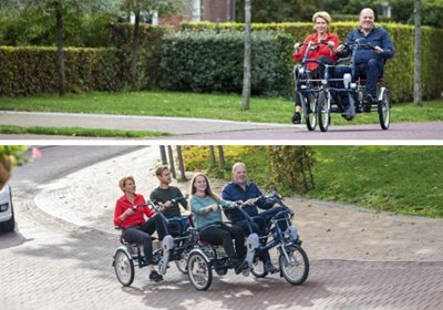 Cycling with back pain Van Raam side-by-side tandems