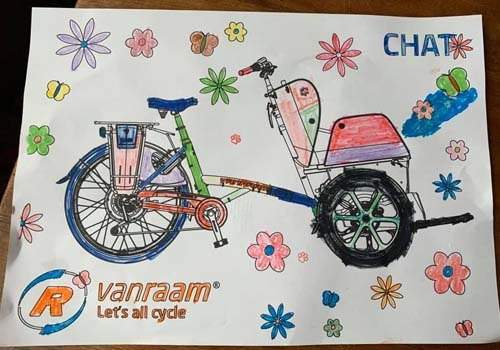 Van Raam colouring page contest winner Chat colouring page